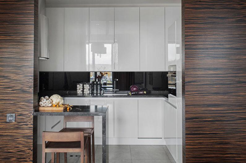 Cuisine 7 m²  dans un style high-tech - Design d'intérieur