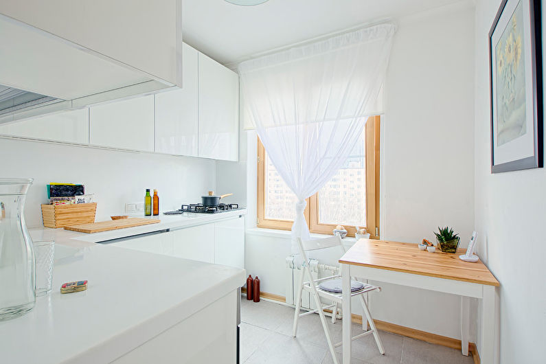 Cuisine 7 m²  dans le style du minimalisme - Design d'intérieur