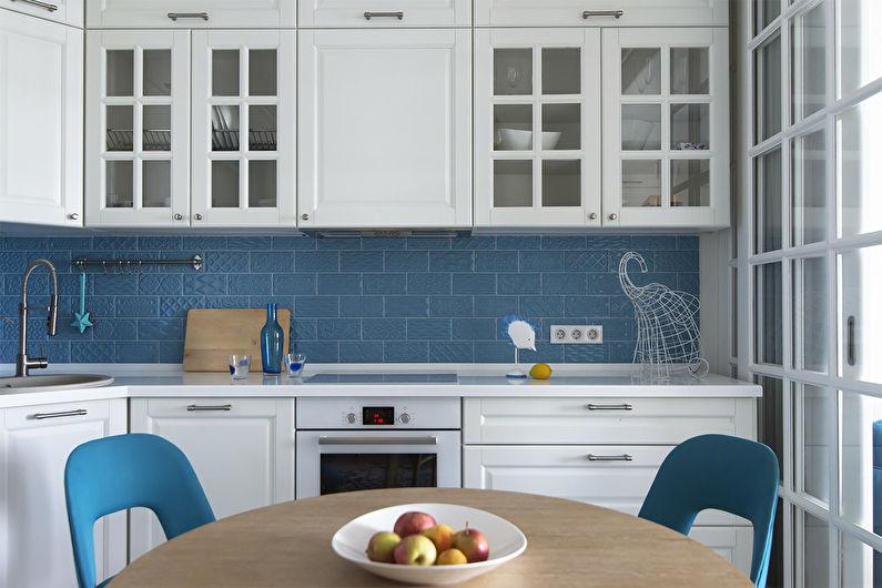 Conception de cuisine 7 m²  - Contrastes vifs