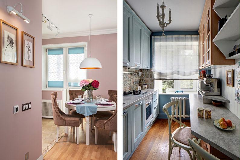 Conception de cuisine 7 m²  - Nuances pastel