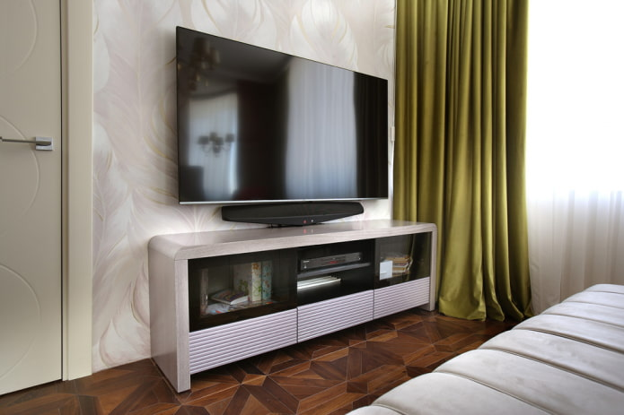 meuble TV en métal à l'intérieur