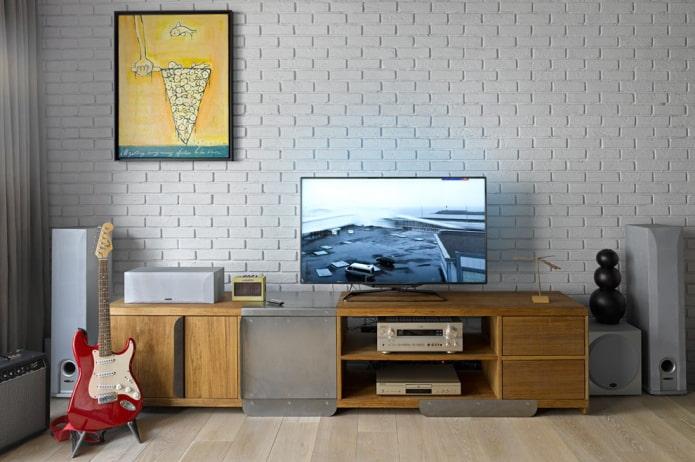 support de sol pour tv à l'intérieur