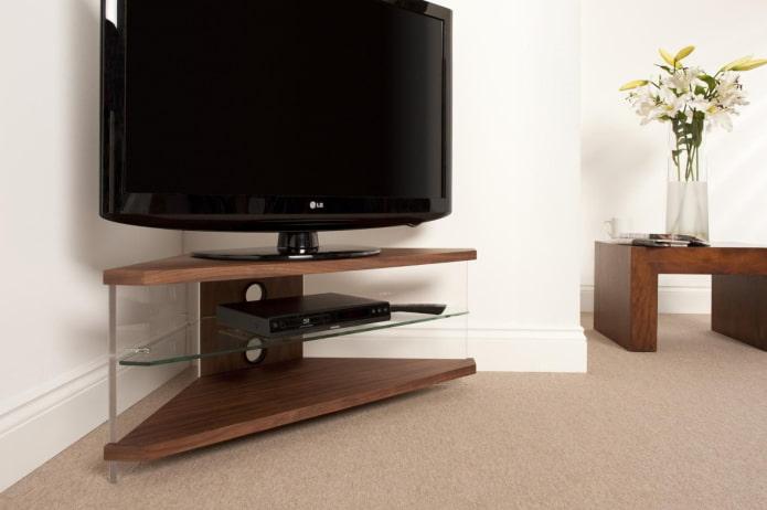 meuble TV d'angle à l'intérieur
