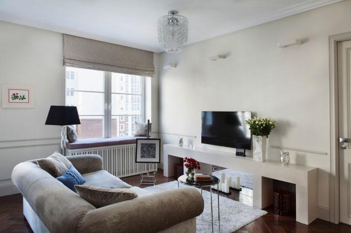 meuble TV en placoplâtre à l'intérieur
