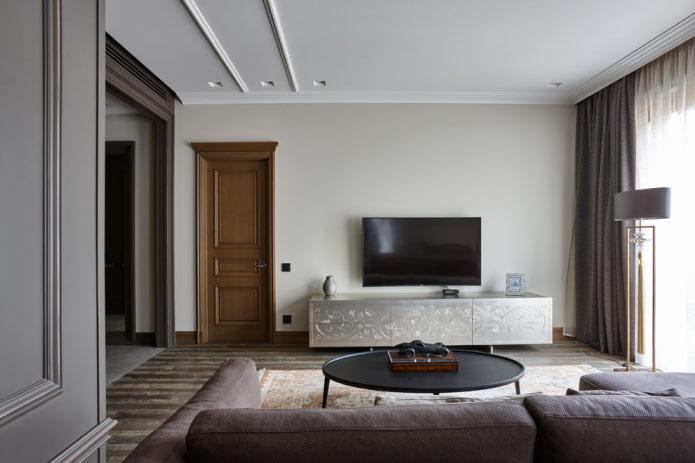 meuble TV mat à l'intérieur
