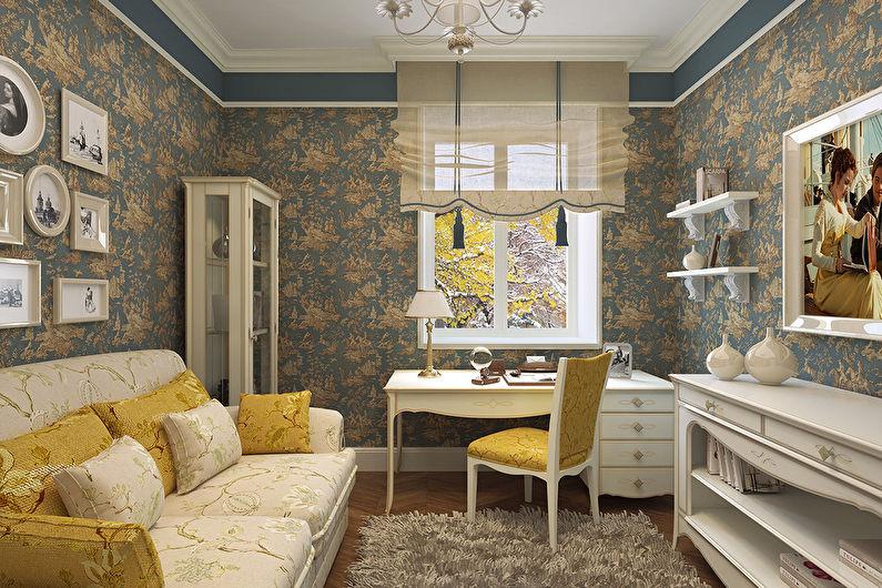 Salon design 18 m²  à la provençale