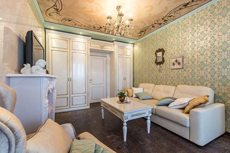 Salon design 18 m²  dans un style classique