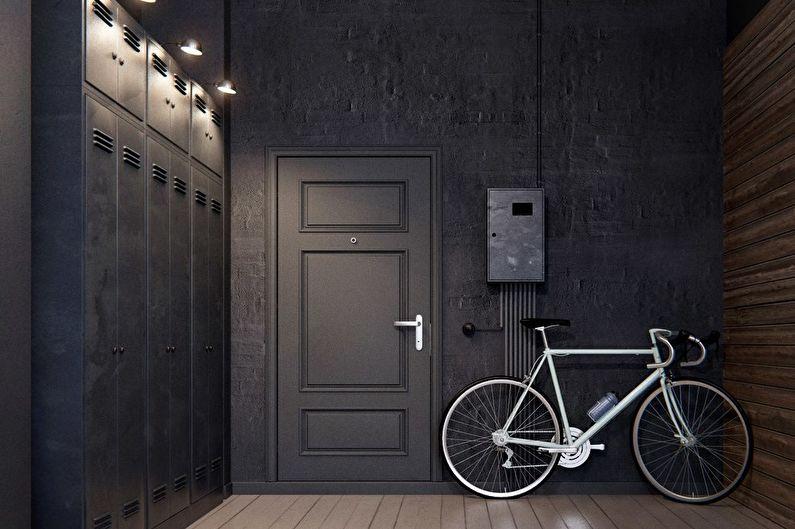 Loft brutal dans un studio de 40 m².  - Design d'intérieur