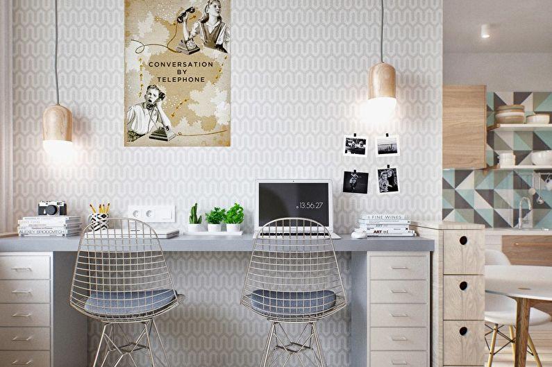 Nid douillet - conception d'un appartement d'une pièce de 40 m².