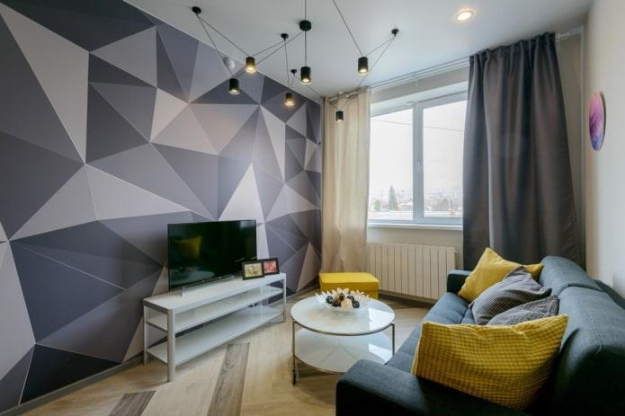 salon rectangulaire de 16 m².