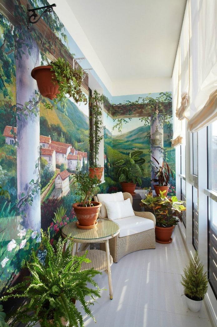 Plantes sur le balcon