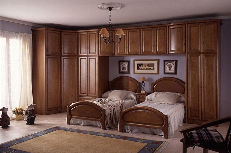 Types de lits simples - Lit intégré au meuble