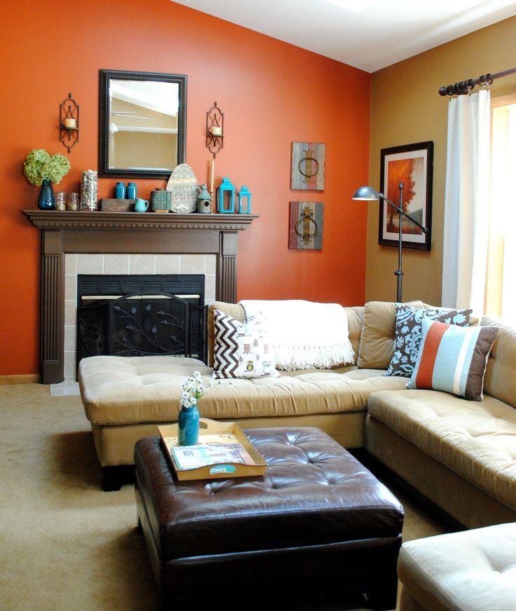 Photo 4 - La couleur orange vif du mur crée une ambiance arc-en-ciel