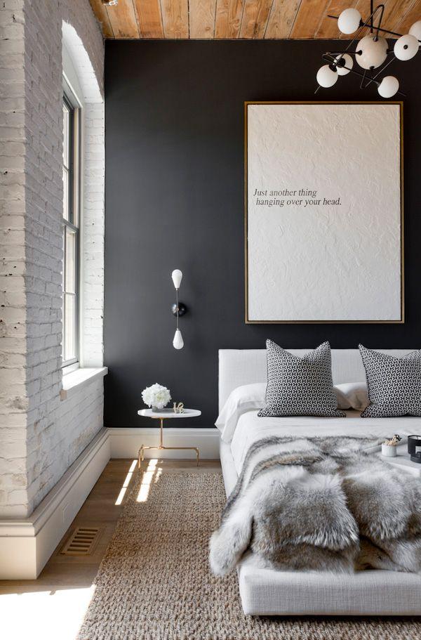 Photo 11 - La combinaison parfaite du noir et blanc dans la chambre