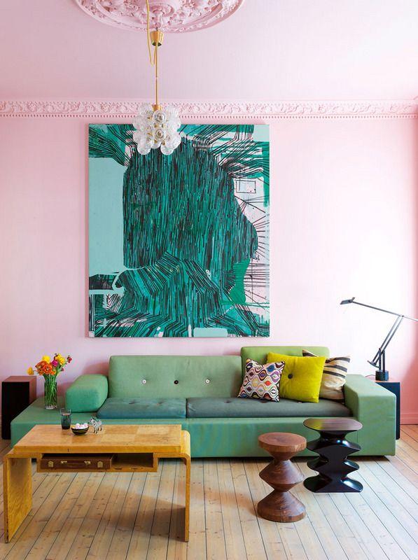 Photo 2 - La couleur rose pâle du mur ajoutera du raffinement à votre intérieur