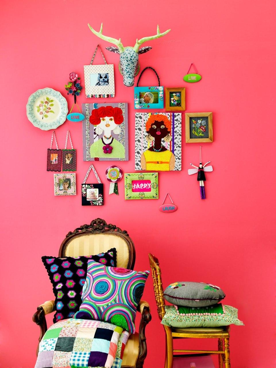 Photo 12- La riche couleur du mur crée une ambiance lumineuse