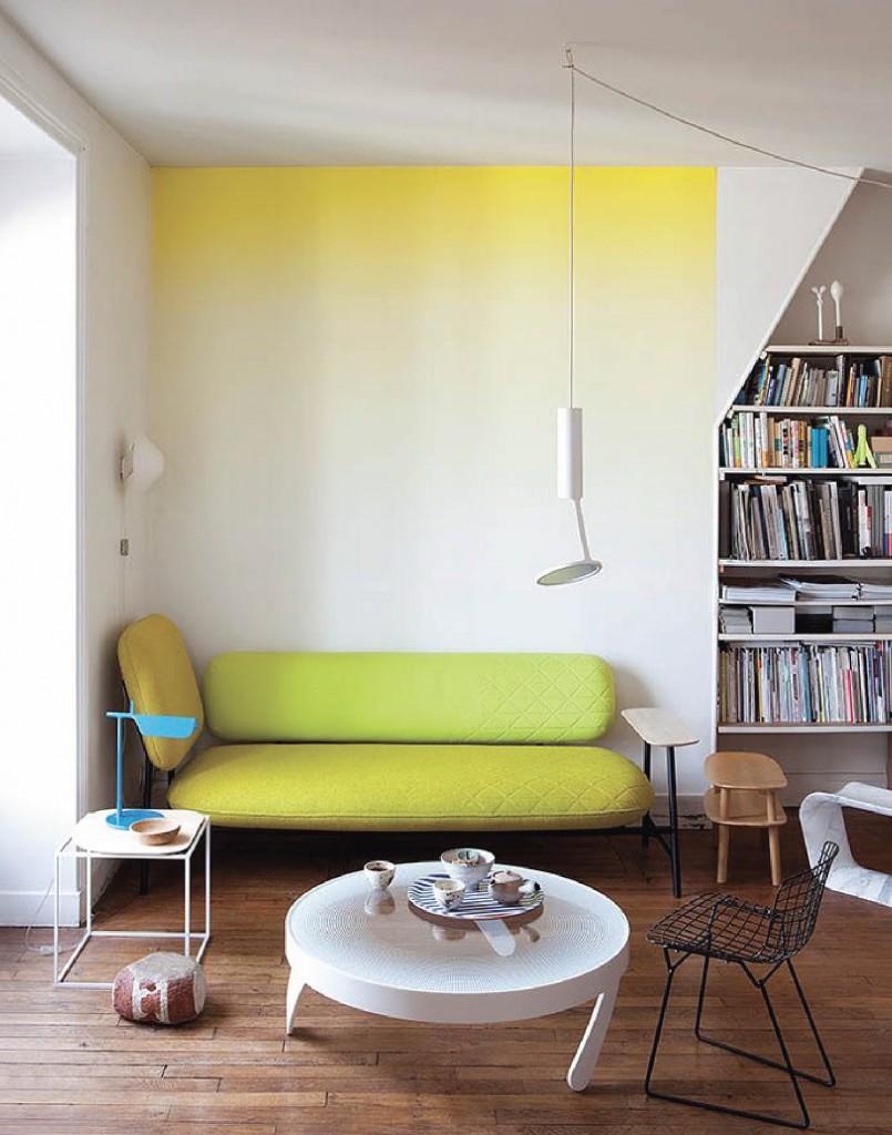 Photo 14 - Une idée intéressante d'une transition de couleur douce sur le mur