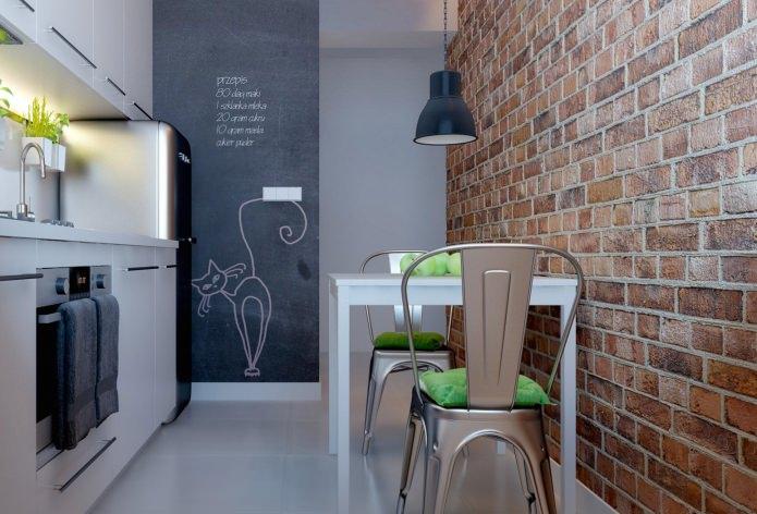 Idées de papier peint pour une petite cuisine