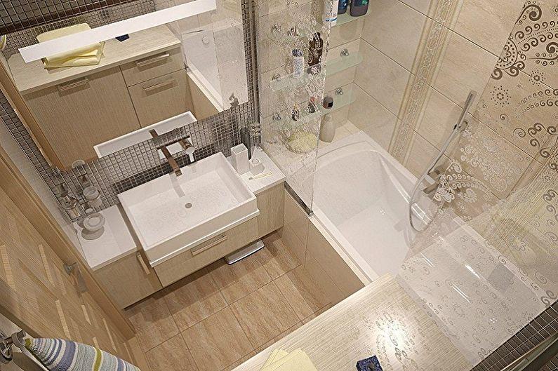 Conception de salle de bain 2 m²  - Finition du sol