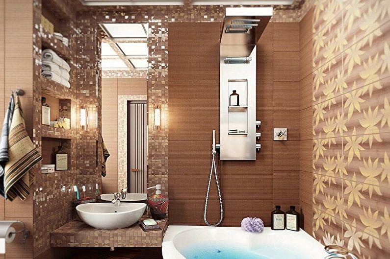 Conception de salle de bain 2 m²  - Décoration murale