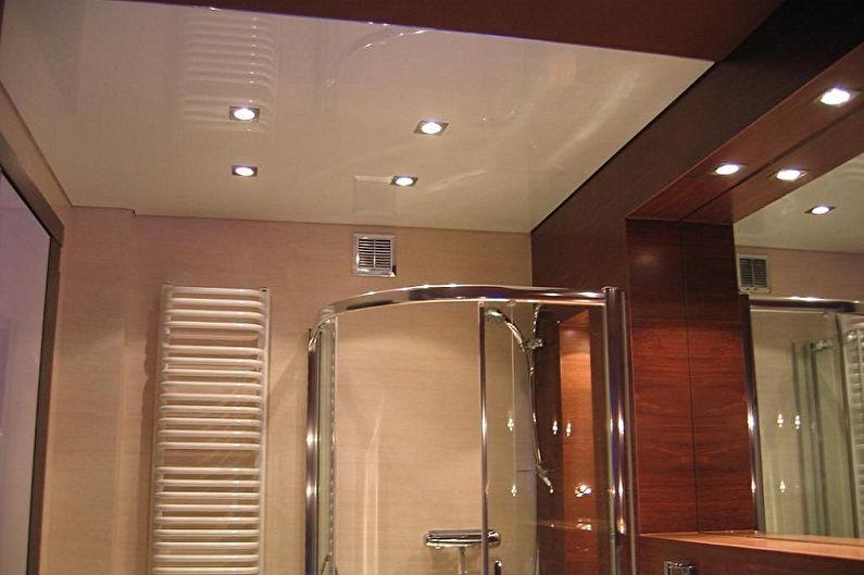 Conception de salle de bain 2 m²  - Décoration de plafond