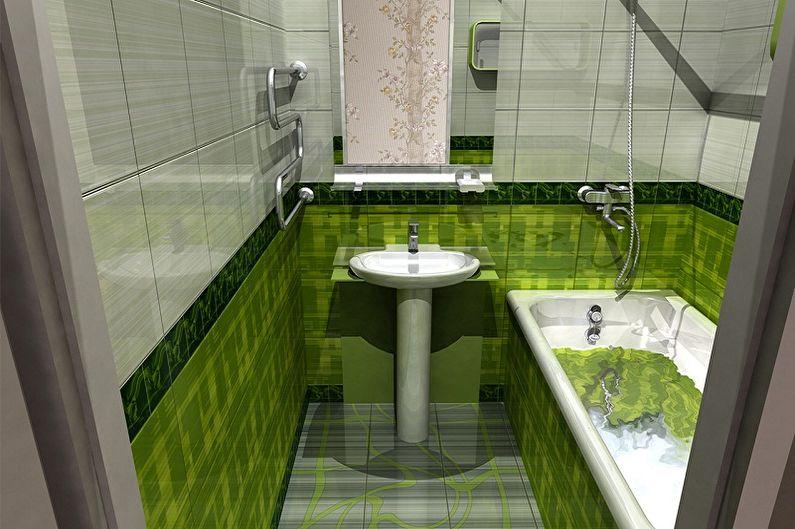 Conception de salle de bain 2 m²  - Solutions couleur