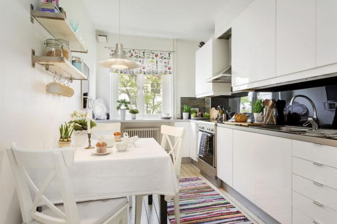 intérieur de cuisine dans un appartement de 50 places