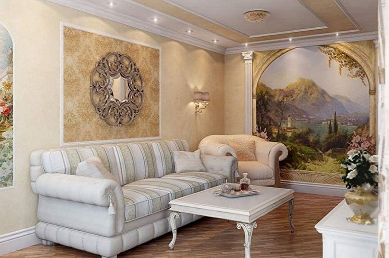 Petit salon design - Décoration murale