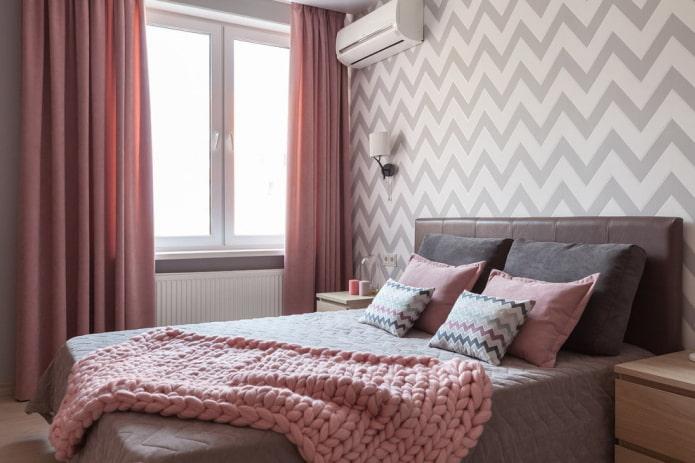 intérieur de chambre gris-rose
