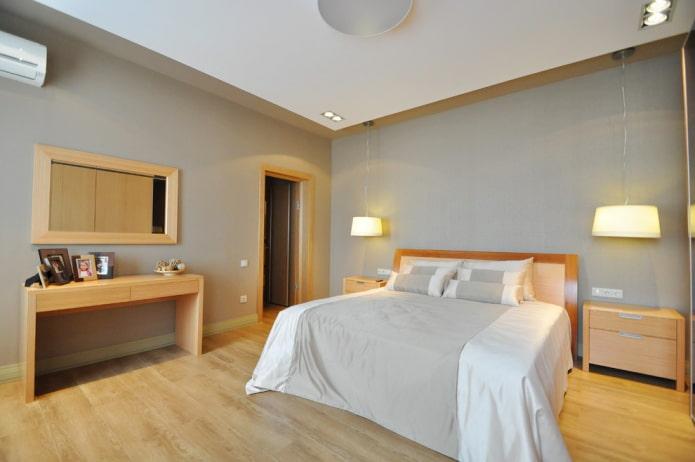 intérieur de chambre gris-beige