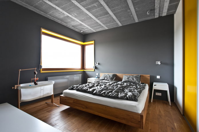 finition chambre grise