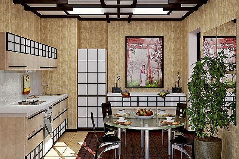 Conception de cuisine de style japonais - Caractéristiques