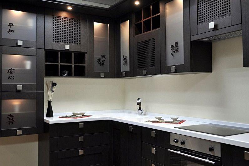 Cuisine noire de style japonais - Design d'intérieur