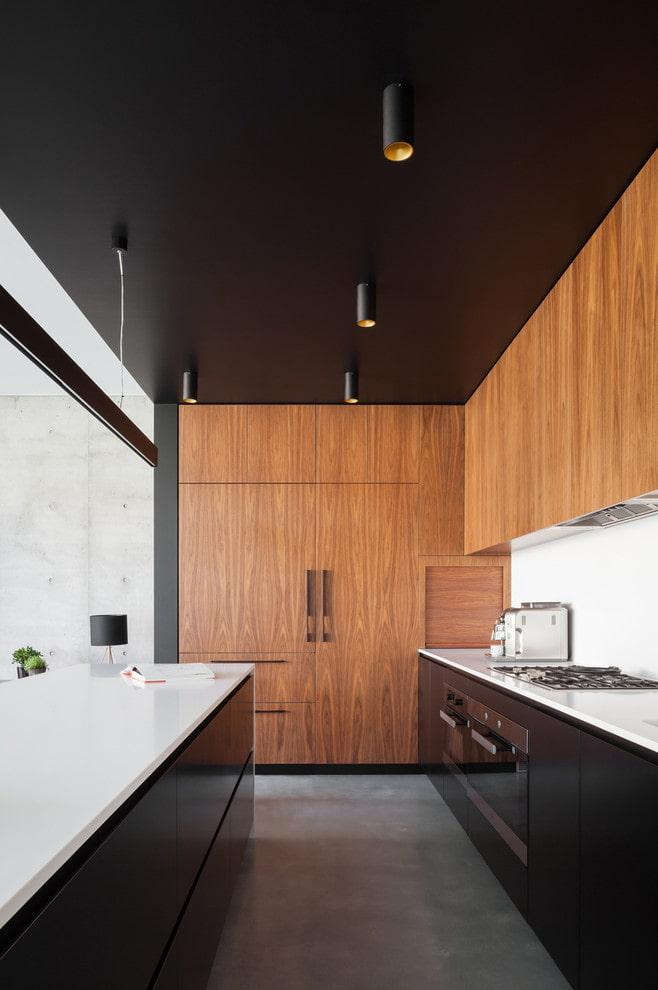 tissu extensible noir dans la cuisine