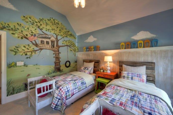 chambre d'enfant à l'américaine