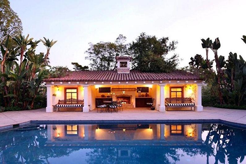 Projets modernes de maisons à un étage - Maison à un étage avec cuisine d'été