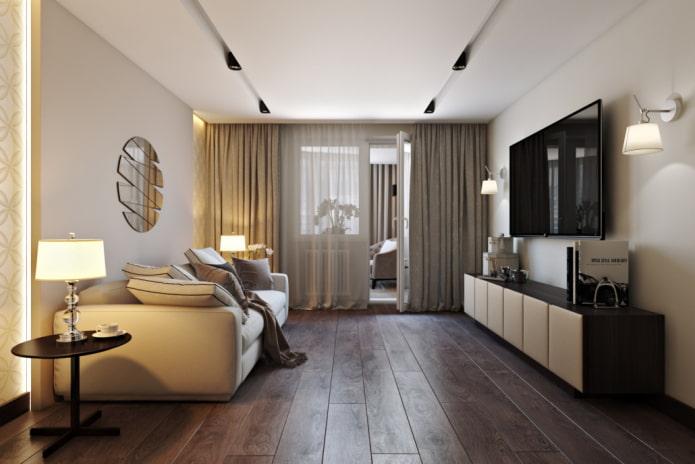 salon beige moderne