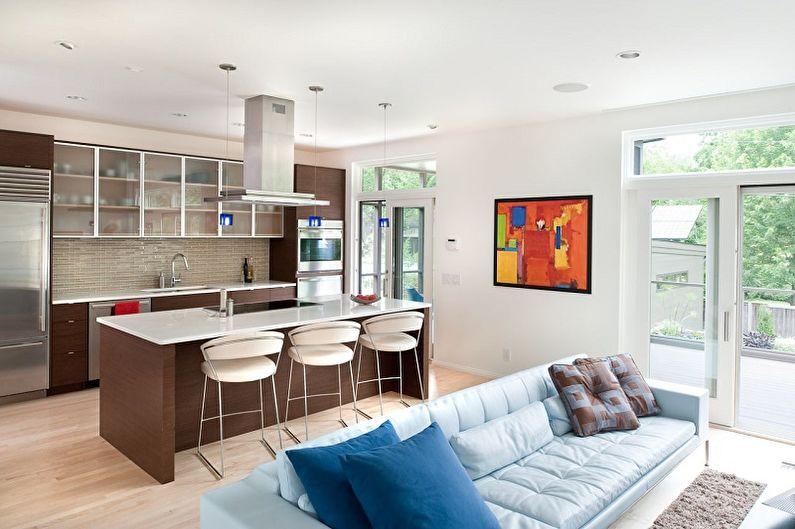 Réaménagement d'un studio - Combinaison avec une cuisine