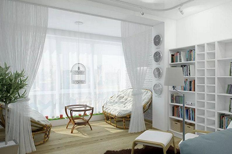 Réaménagement d'un T1 - Combinant une chambre avec une loggia