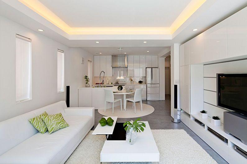 Réaménagement d'un appartement d'une pièce - idées photo