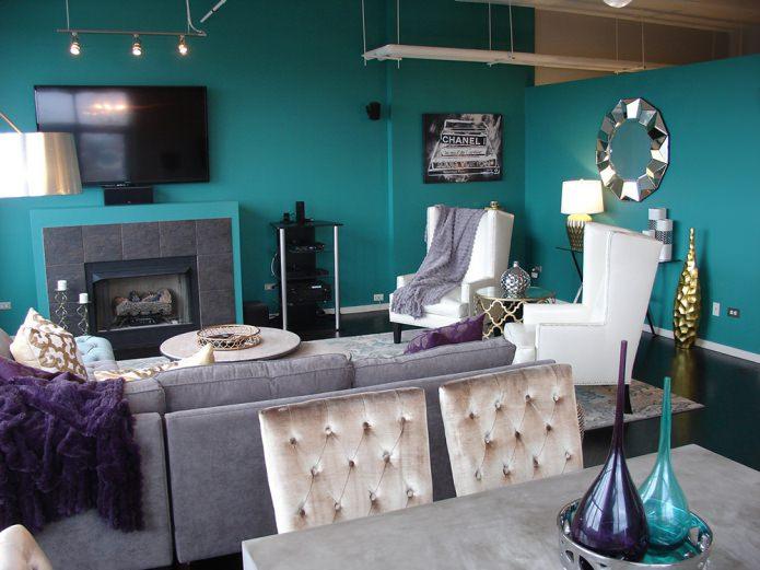 murs turquoise