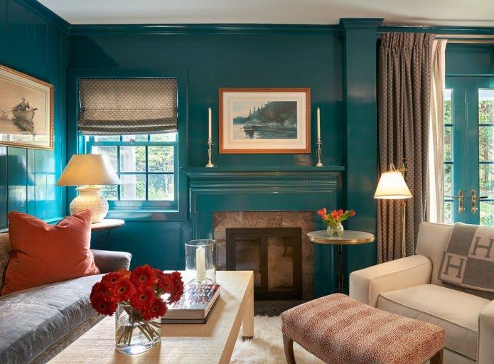 turquoise à l'intérieur
