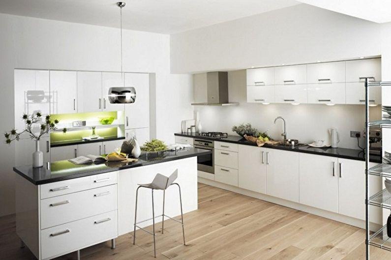 Papier peint blanc pour la cuisine - Couleur du papier peint pour la cuisine