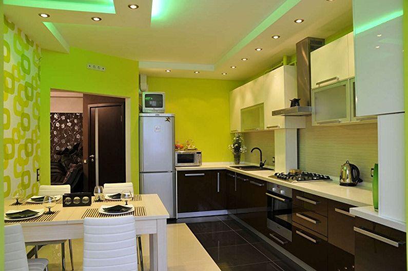 Papier peint vert pour la cuisine - Couleur du papier peint pour la cuisine