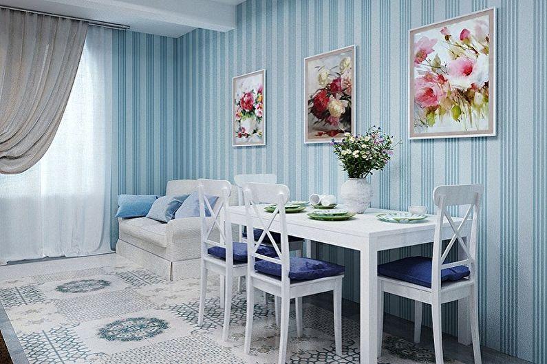 Papier Peint Cuisine Bleu - Couleur Papier Peint Cuisine