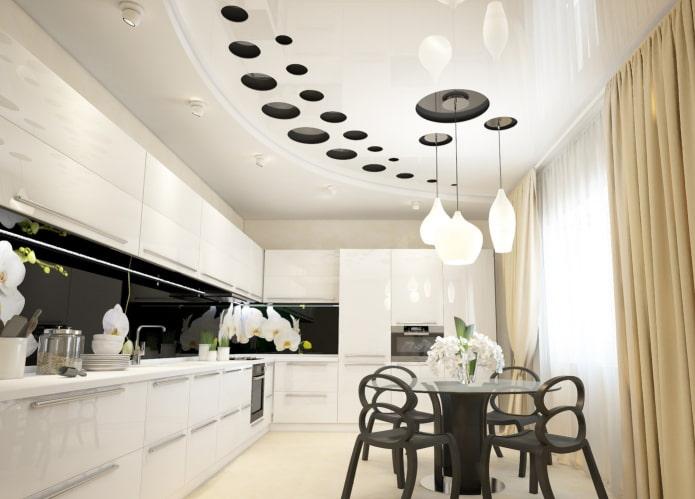 structure de tension à deux niveaux dans la cuisine