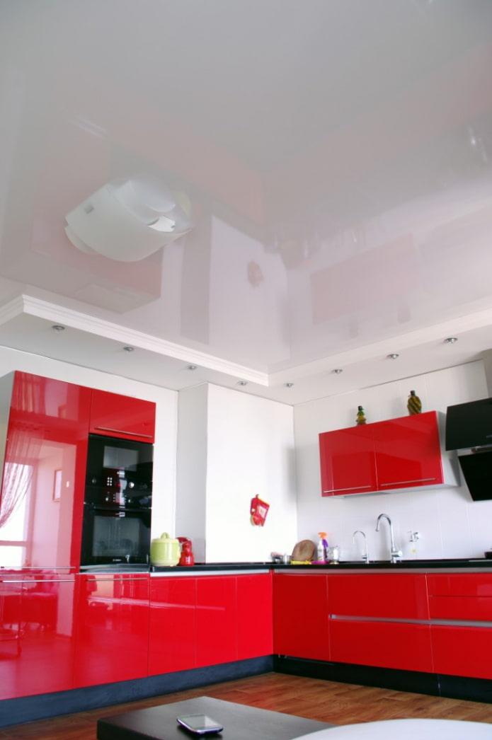 conception d'angle à deux niveaux dans la cuisine