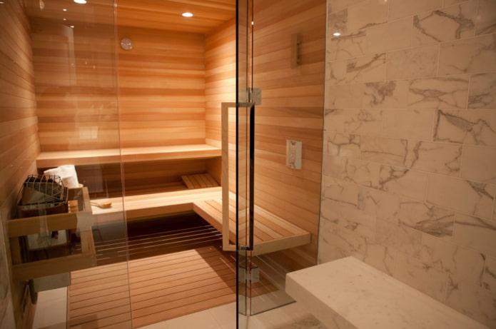 matériaux de finition pour un bain