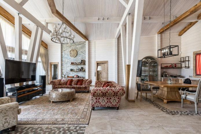 aménagement et zonage du salon à l'intérieur de la maison