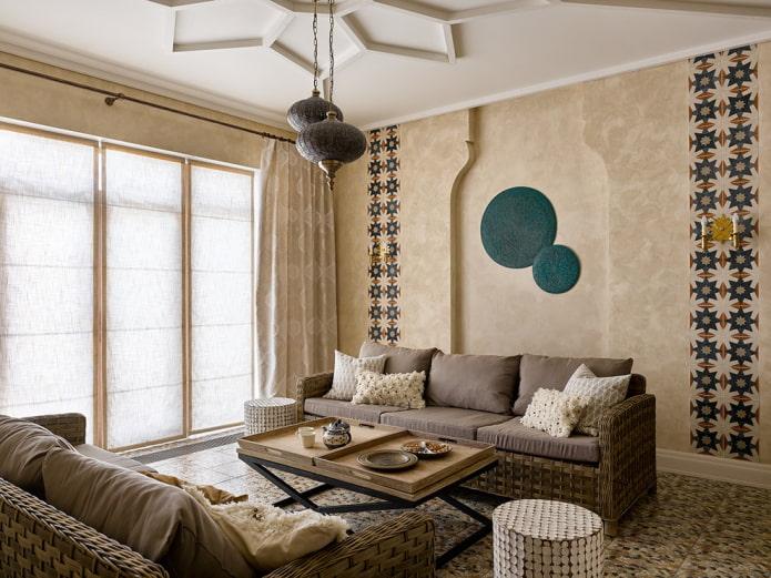 meubler le salon à l'intérieur de la maison